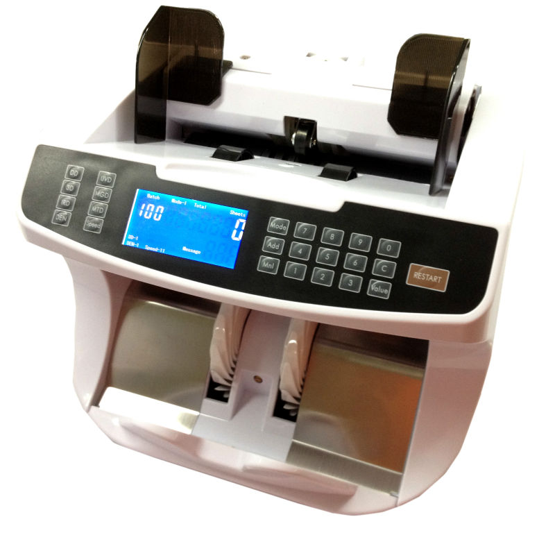 EC960 USD / EURO Cash Machine Bill Money Currency Counter With UV MG Detection Bill Counter