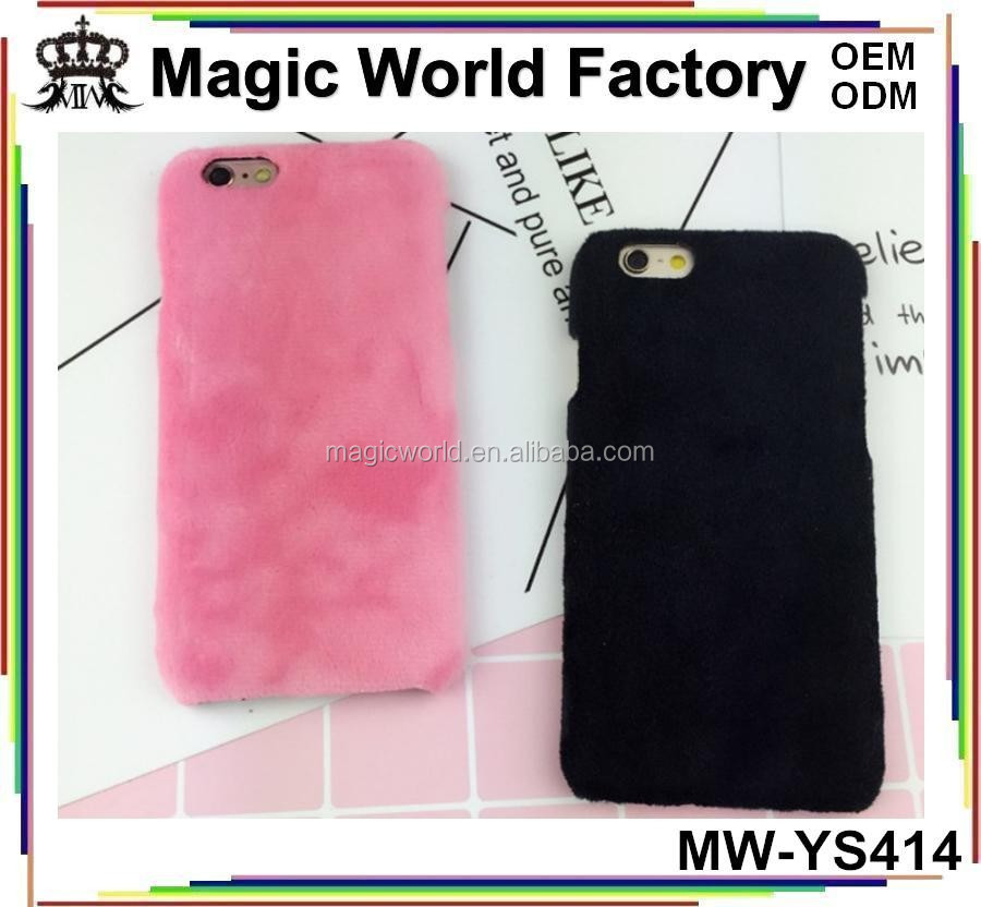 Luxury Fashion Colorful DIY Blank Plush Phone Case For Iphone5 6 7