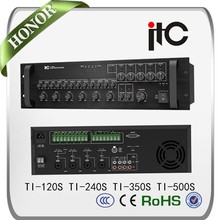 ITC 120W Mixer Zoning Amplifier With 5 Zone Paging Console