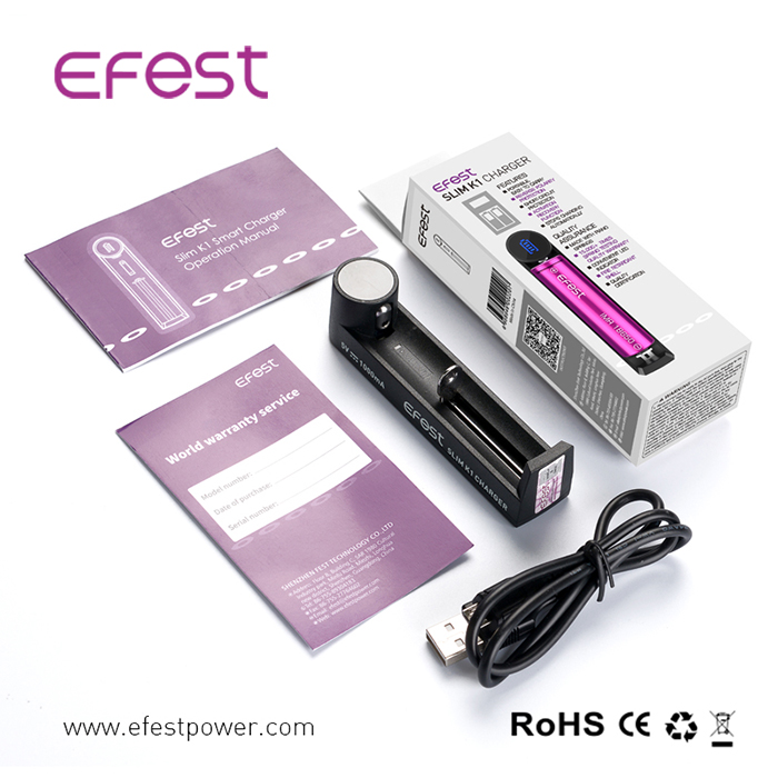 USB Socket 5V 1A battery charger K1 charger for 18650 battery