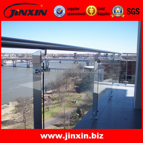 Stainless steel cantilevered glass balustrade (YK-9027)