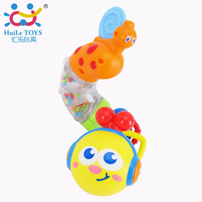 Huile 917 Musical Transforming Caterpillar Rattle twisting worm&play 6 melodies with light flashing
