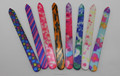 Glass nail file with design coating