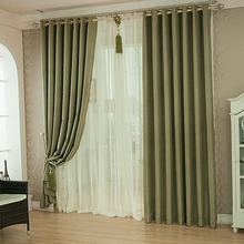 Good quality thick fabric european home curtains for the living room window