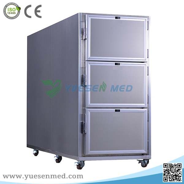 Guangzhou Yuesenmed 6 body stainless steel mortuary freezer mortuary refrigerator mortuary body cooler