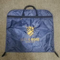 "40"" navy Garment Bag for Travel Business Suit Cover Bag With Metal Hook"