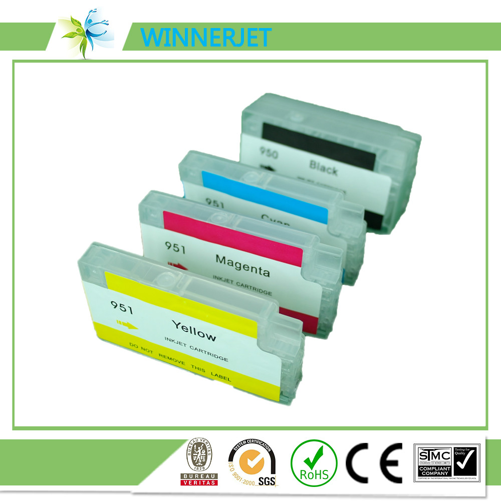 for hp 8610 refill ink cartridge for hp 950 951 ink cartridge with permanent chip