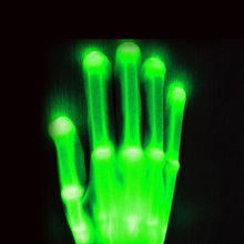 2017 factory light up glove/ blinking LED Gloves /Multicolor led finger light gloves