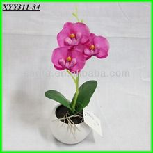 home& indoor decoration,single stem artificial butterfly orchids wholesale bonsai