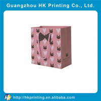 decorative sugar paper packaging bag for gift