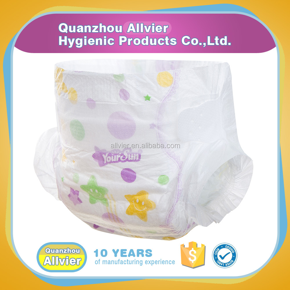 hot sale soft printed baby diaper supplier