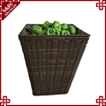 Food safe grade woven bread tray plastic rattan basket