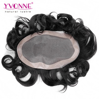 Best quality 6 Inches body wave human hair toupees for black men