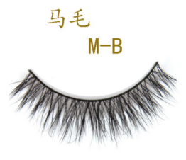 Made In Factory Mink Eyelash Horse Lashes Human Hair Eye Lash Synthetic False Eyelashes