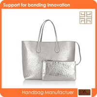 Guangzhou wholesale very cheap silvery purses and handbags