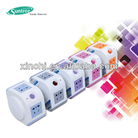 electrical multi vertical socket USB outlet multiple plug socket universal power adapter