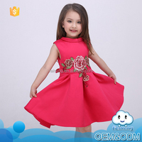 2016 wholesale children frocks designs soft fabric flower girl elegant fancy baby party latest fashion dresses new style