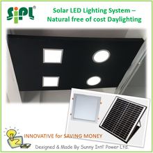SUNNY SOLAR SKYLIGHT Ceiling Roof Mounted Day Time Running LED Panel Light Home Use Square Shape Indoor Solar Light