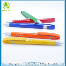 Office product wholesale ABS plastic metarial ballpoint pen promotion