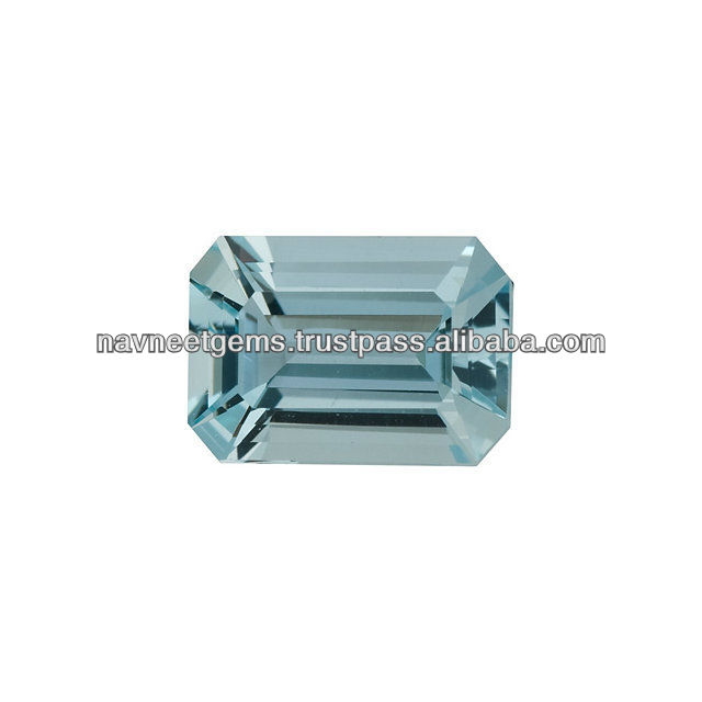 12x10mm Octagon Aquamarine Faceted Gemstones - Loose Stones