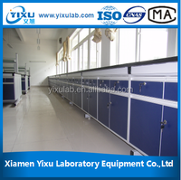 University used Full Steel Or Steel Wood Island Or Wall Bench lab furniture system