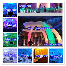 outdoor active inflatable LED arch dome tent/ arch dome