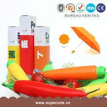 Gift orange ABS carrot umbrella for snow promotional umbrella