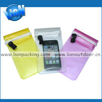 Waterproof PVC Swimming Phone Cases & Bags With Armband Hang Rope Diving Surfing Underwater Pouch