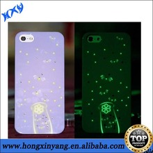 Luminous Phone Case for iphone , Glow in the dark cell phone cases for Iphone 4 5 5S 5C