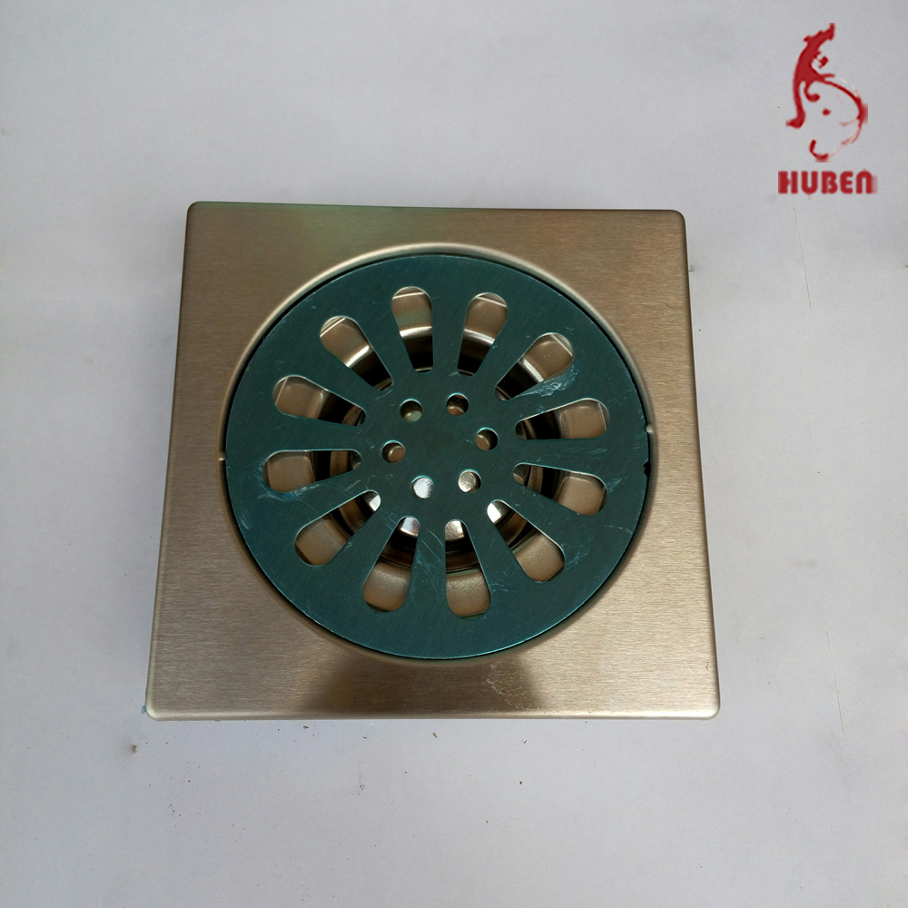 china prefabricated homes square stainless steel cast iron floor drain cover