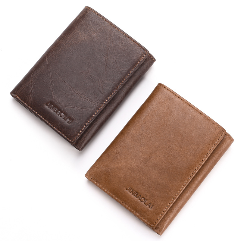 JINBAOLAI BRAND Slim Minimalist Front Pocket RFID Blocking Leather Wallets for <strong>Men</strong>