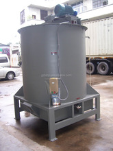 Hot water washing machine for plastic flake and film recycling