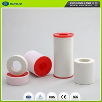 KLIDI Best Sale Hot Melt Glue Cotton Fabric Medical Adhesive Sports Strapping Zinc Oxide Tape