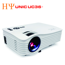 UNIC UC36+ WIFI Mini Projector Throw 130inch Portable Multimedia LED Projector with HD USB Proyector Home Theater Beamer