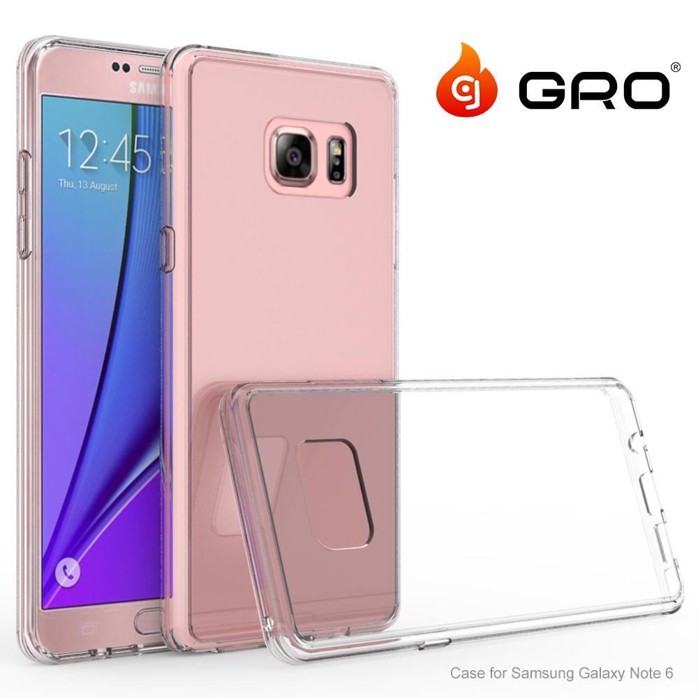 New Scratch Resistant Crystal Clear PC Back Cover Protective TPU Acrylic Case For Samsung Galaxy Note6