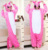 newest pink unicorn onesie pajamas winter long-sleeves cheap adult unicorn onesie