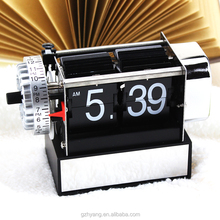 Funny mini flip table travel alarm clock for living room and bedroom