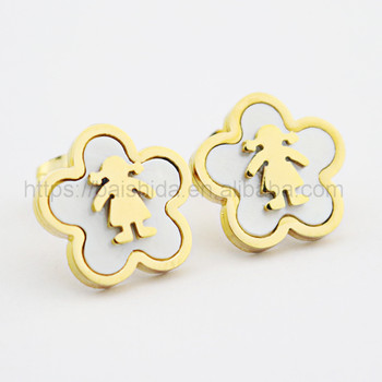 flower shaped earrings latest design teen girls jewelry top