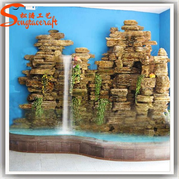 Made in china small decorative water wall stone fountain