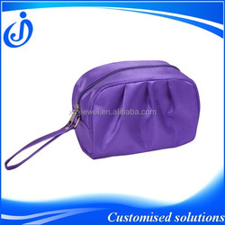 Purple Wholesale Custom Satin Cosmetic Bag With Handle
