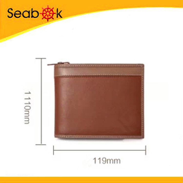 Popular Design Zipper Leather Wallet with ID Pocket