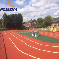 rubber athletic track surface waterproof synthetic running track Outdoor prefabricated run track