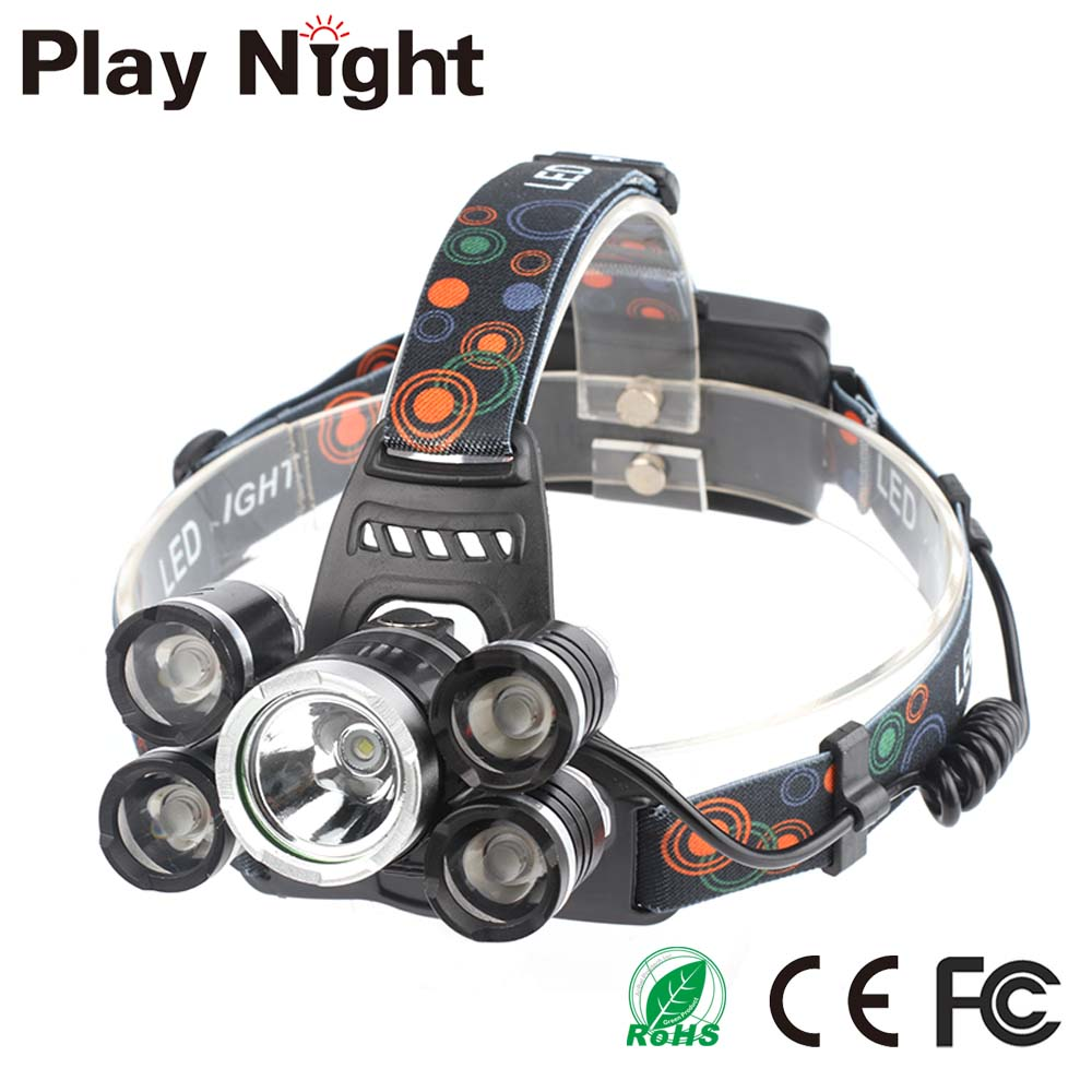 High Power Led Flashlight Led Headlamp T6&XPE Outdoor Waterproof Camping Hunting 18650 Battery Headlight