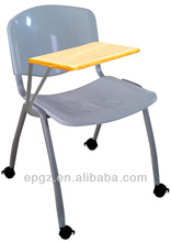 training chairs with writing tables attached adult size