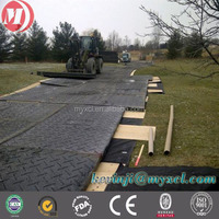 uhmw-pe plastic sheet ground protection mat system for oil drilling,hdpe temporary access roadway pad manufacture