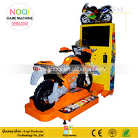 NQR-A01 kids battery coin operated motor car racing game machine flight simulator arcade for sale in shopping mall