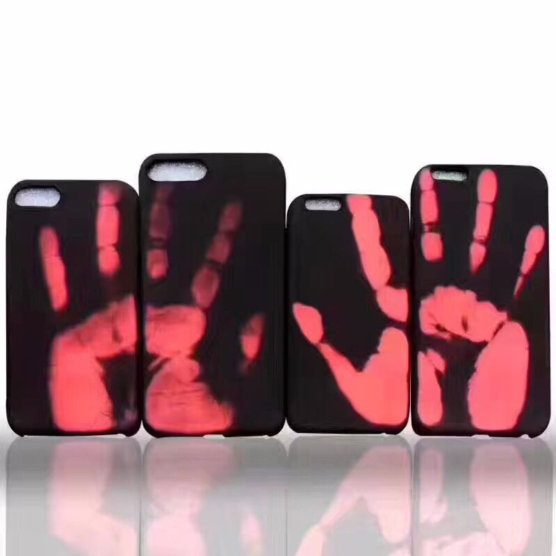 2017 New Creative Thermal Induction Color Change Phone Case for iPhone 7 8