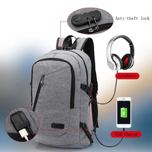 2017 Hot sell USB charging laptop Compute backpack for women male Backpack school Bag for Men Mochila bagpack