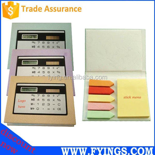 funcy 8 digit solar pocket sticky note calculator