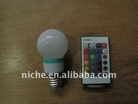 COLOR CHANGING ENERGY SAVING WITH REMOTE CONTROL LED MAGIC BULB
